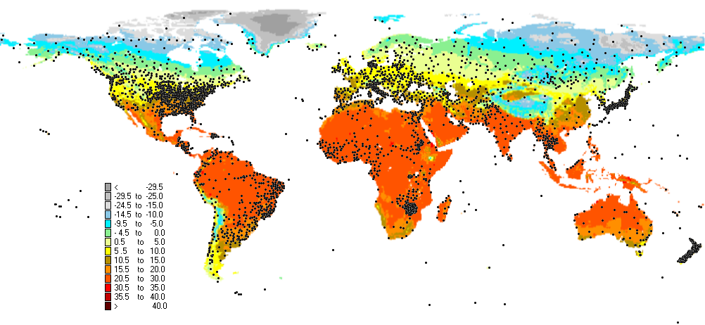 climate chart index map